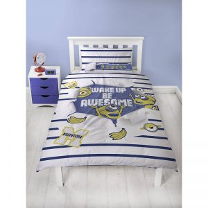 Despicable Me Awesome Single Duvet Cover Polycotton Front