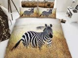Zebra King Duvet Cover