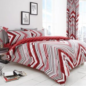 Austin Chevron Striped Bettbezug Rot