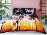 Beach Tropical King Duvet Cover