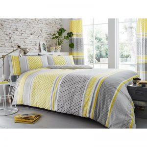 Charter Stripe Striped Duvet Cover Mustard