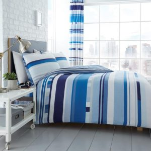Chester Stripe Bettbezug Blau