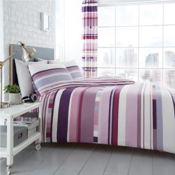 Chester Stripe Bettbezug Lila