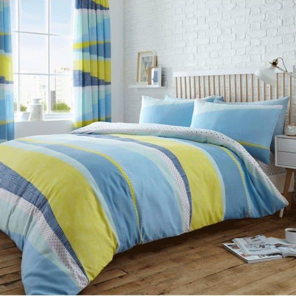 Dexter Striped Duvet Cover Blue