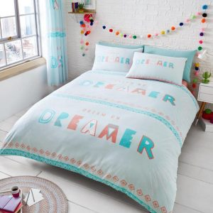 Dream On Duvet Cover Light Teal