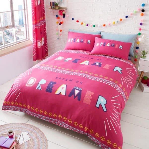 Dream On Duvet Cover Pink