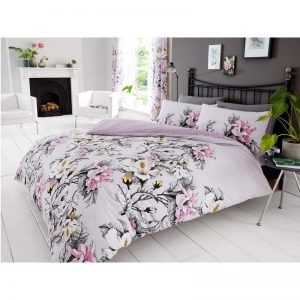 Eden Floral Duvet Cover Purple