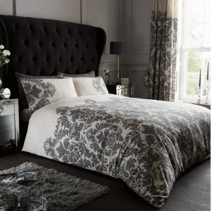 Empire Damask Duvet Cover Cream