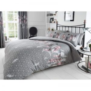 Feathers Duvet Cover Grey