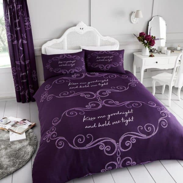 Goodnight Duvet Cover Purple