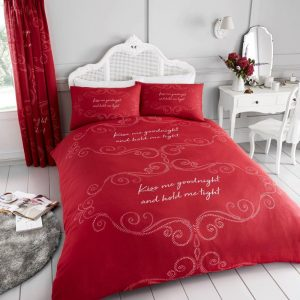 Goodnight Duvet Cover Red