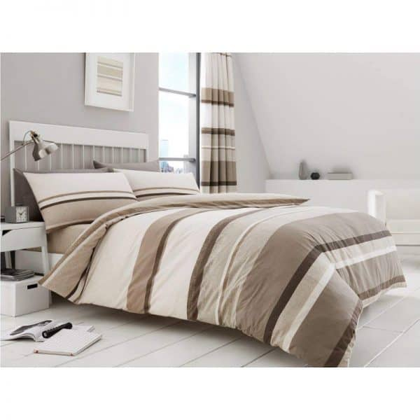 Hudson Striped Duvet Cover Natural