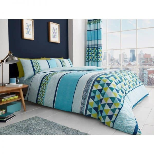 Madison Striped Duvet Cover Teal