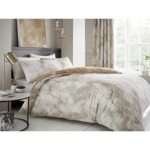 Marble Effect Duvet Cover Cream