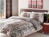 Tiger Skin Print Double Duvet Cover
