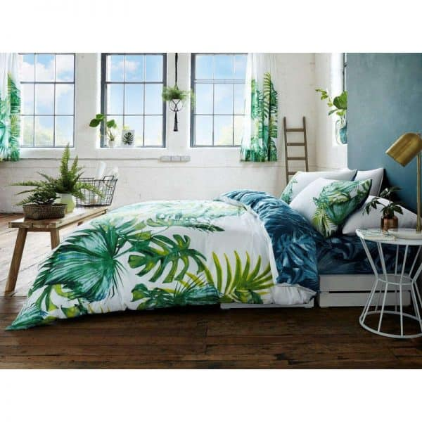 Tropical Leaf Floral Duvet Cover