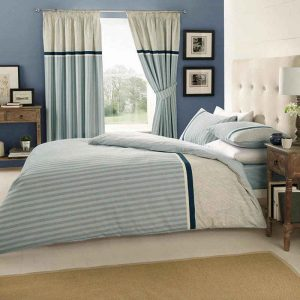 Valeria Striped Duvet Cover Blue