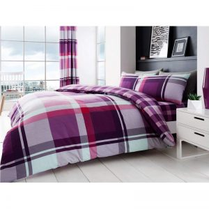 Waverly Check Duvet Cover Purple