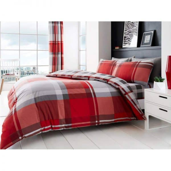 Waverly Check Duvet Cover Red