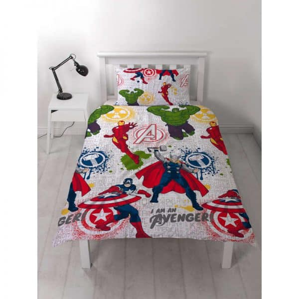 Marvel Avengers Mission Single Duvet Cover Front