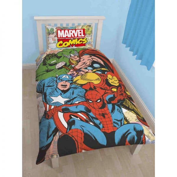 Marvel Comics Justice Single Duvet Cover Front