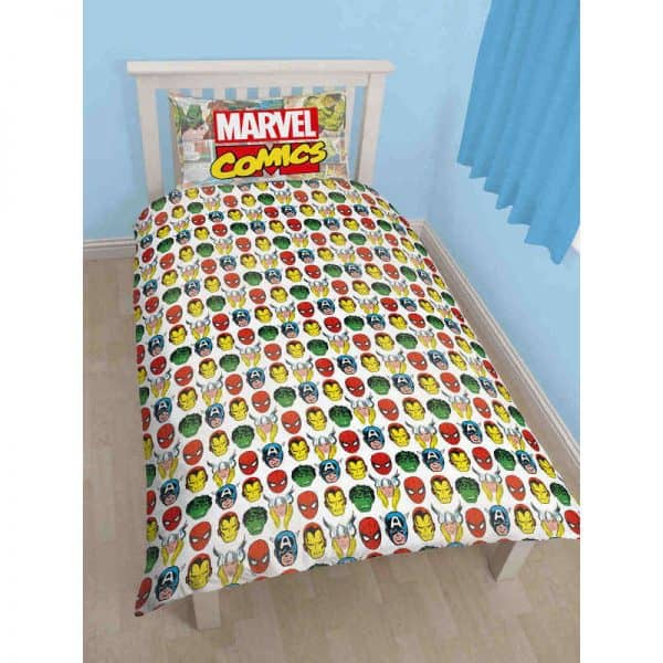 Marvel Comics Justice Single Duvet Cover Reverse