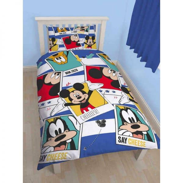 Mickey Mouse Polaroid Single Duvet Cover Front