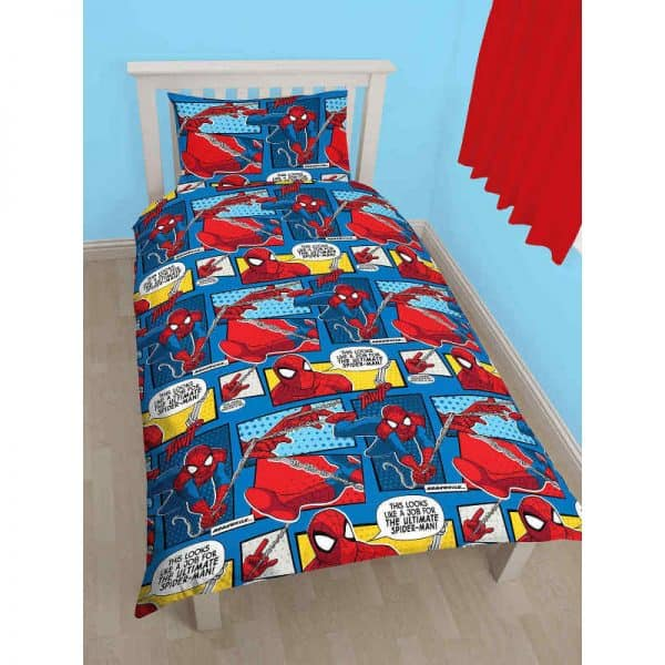 Spiderman Webhead Single Duvet Cover Omvendt