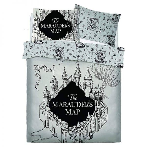 Harry Potter Marauders Map Double Duvet Cover