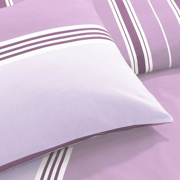Pieridae Banded Stripe Duvet Cover Lilac Detail
