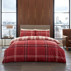 Gaveno Cavailia Bardsley Check Duvet Cover Red