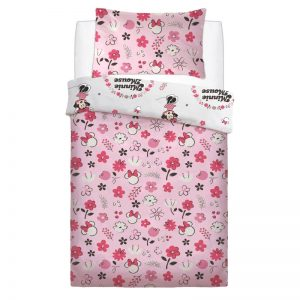 Minnie Mouse Floral Wink Single Duvet Cover