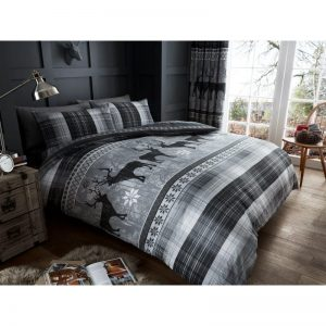 Heritage Stag Duvet Cover Grey