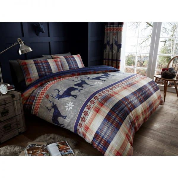 Heritage Stag Duvet Cover Navy