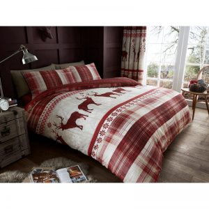 Heritage Stag Duvet Cover Red
