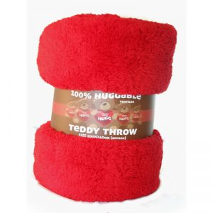 Teddy Throw Red