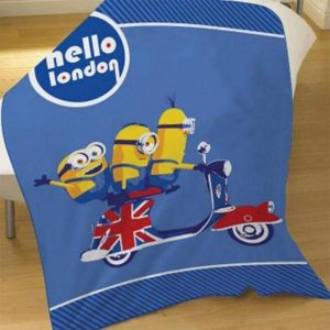Despicable Me Minions Hello London Fleece Deken