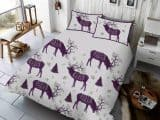 Winter Berry Stag King Duvet Cover