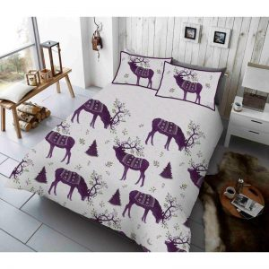 Vinter Berry Stag Duvet Cover Purple
