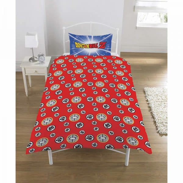Dragon Ball Z Battle Single Duvet Cover Reverse