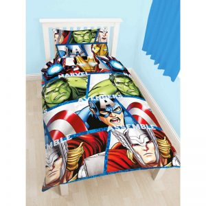 Marvel Avengers Shield Single Duvet Cover Front