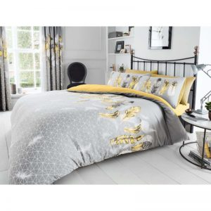 Feathers Duvet Cover Yellow