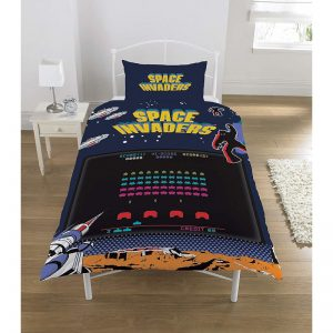 Space Invaders Coin Op Single Duvet Cover Front