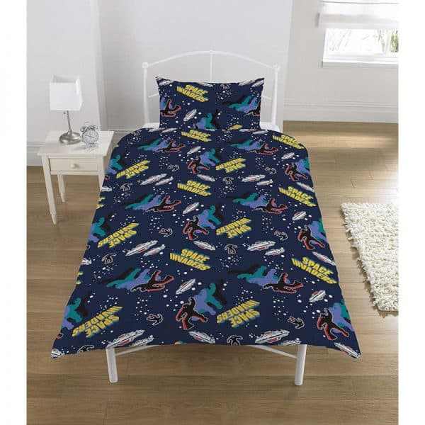 Space Invaders Coin Op Single Duvet Cover Reverse