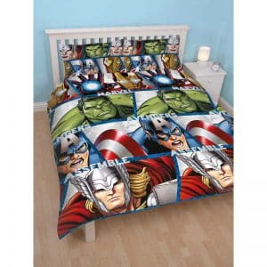 Housse de couette double Marvel Avengers Shield devant