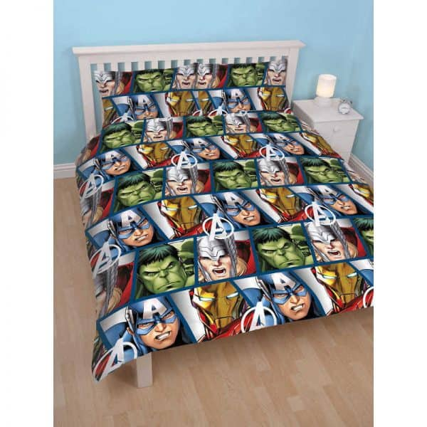 Marvel Avengers Shield Double Duvet Cover Reverse