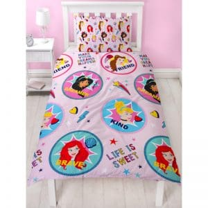 Disney Princess Fearless Single Duvet Cover Front