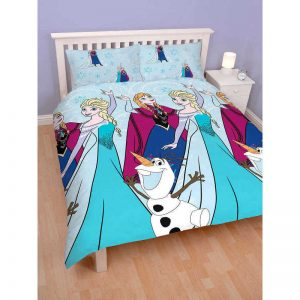Disney Frozen Lights Dubbel täcken Cover Fram