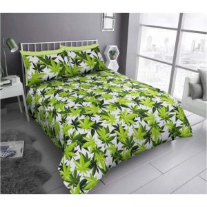 GC Leaf Duvet Cover White Green