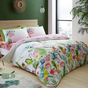 Leila Tropical Floral Duvet Cover